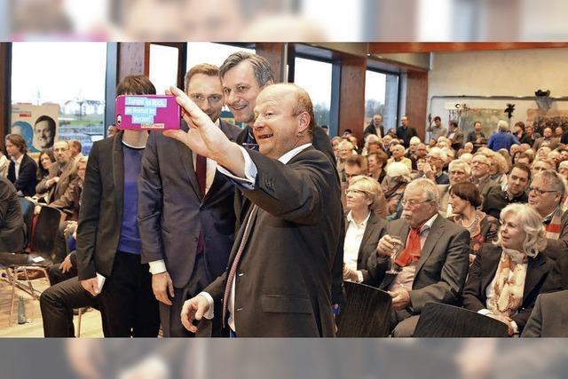 Selfie mit Lindner in Denzlingen