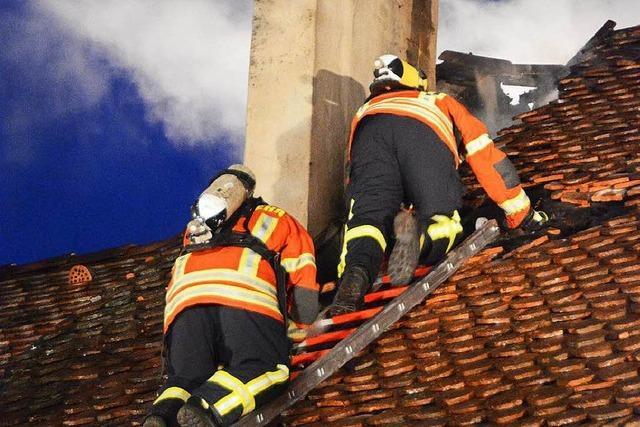 Brand in Schreinerei in der Blansinger Ortsmitte