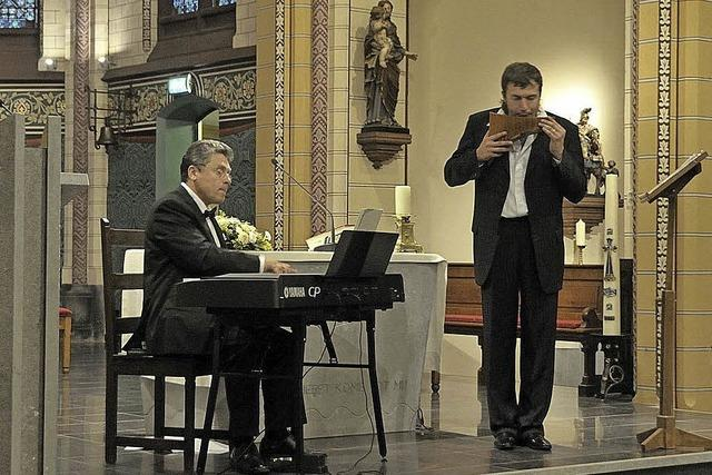 Roman Kazak und Wladimir Steba in Teningen