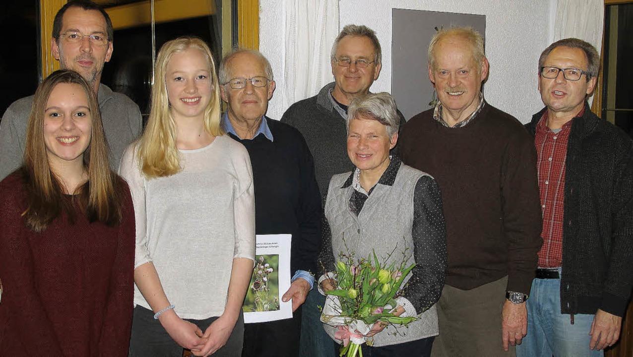 Der Vorstand des BUND Schliengen-Bad B...ür das Schliengener Apfelsaftprojekt).  | Foto: Jutta Schütz