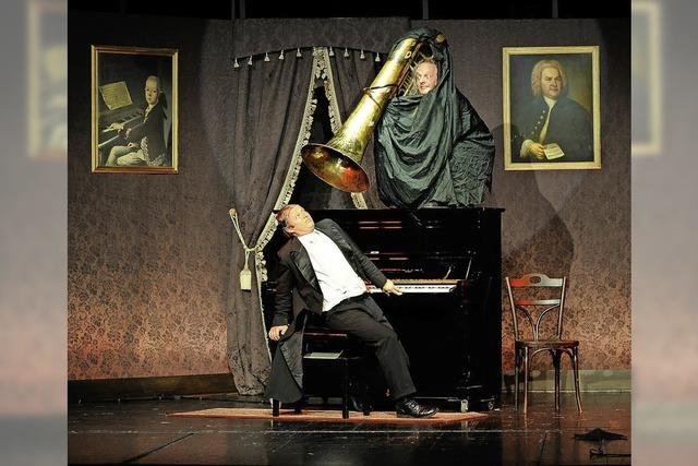 Mit Gogol alias Christoph Schelb und Mäx alias Max-Albert Müller in Hcöhenschwand