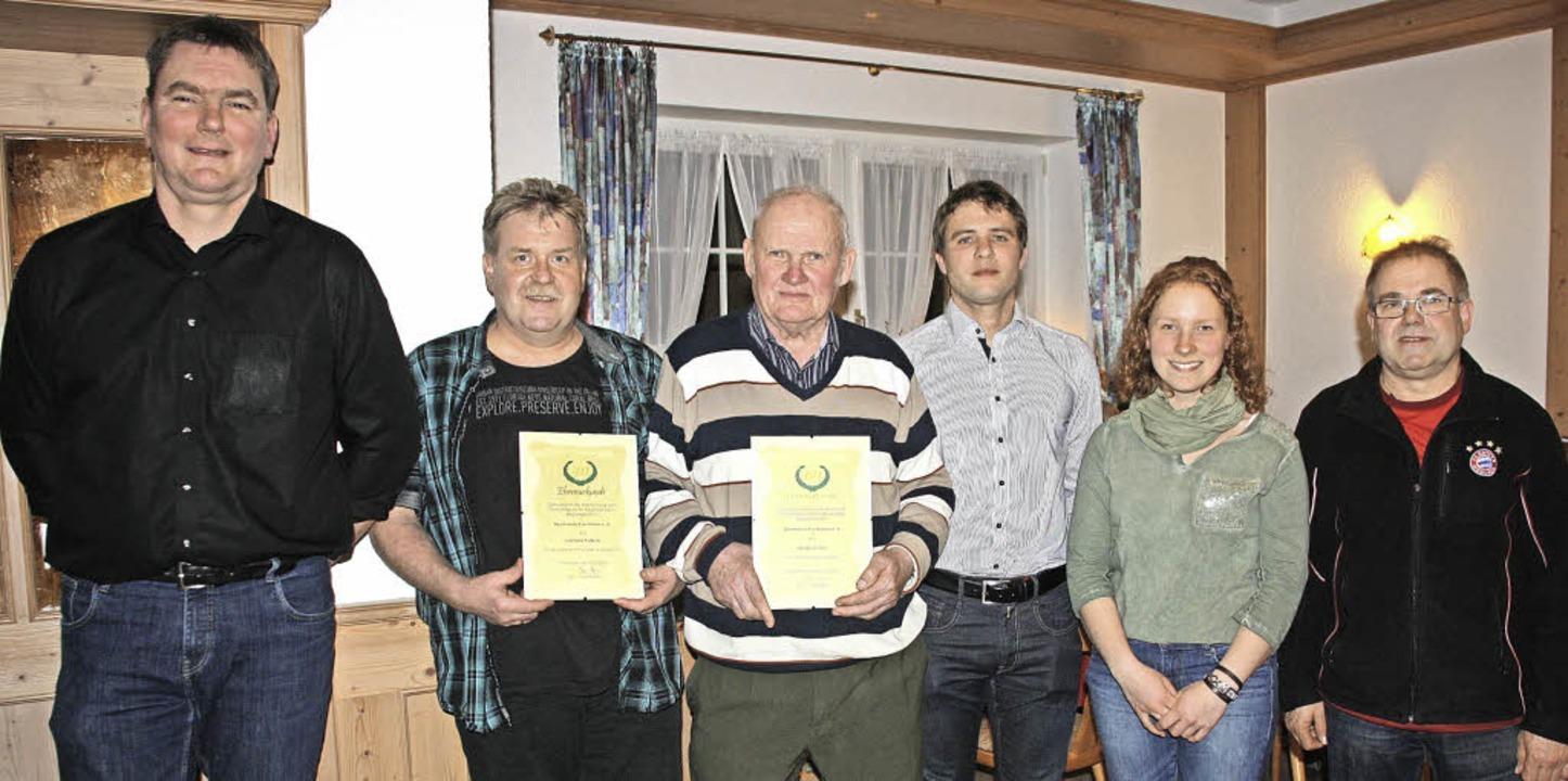 Vorsitzender Jörg Meyer (links), selbs...s) im Vorstandsteam des Fördervereins.  | Foto: Christiane Franz