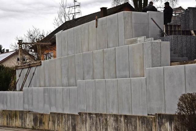 Ärger um den Mauerbau von Windenreute