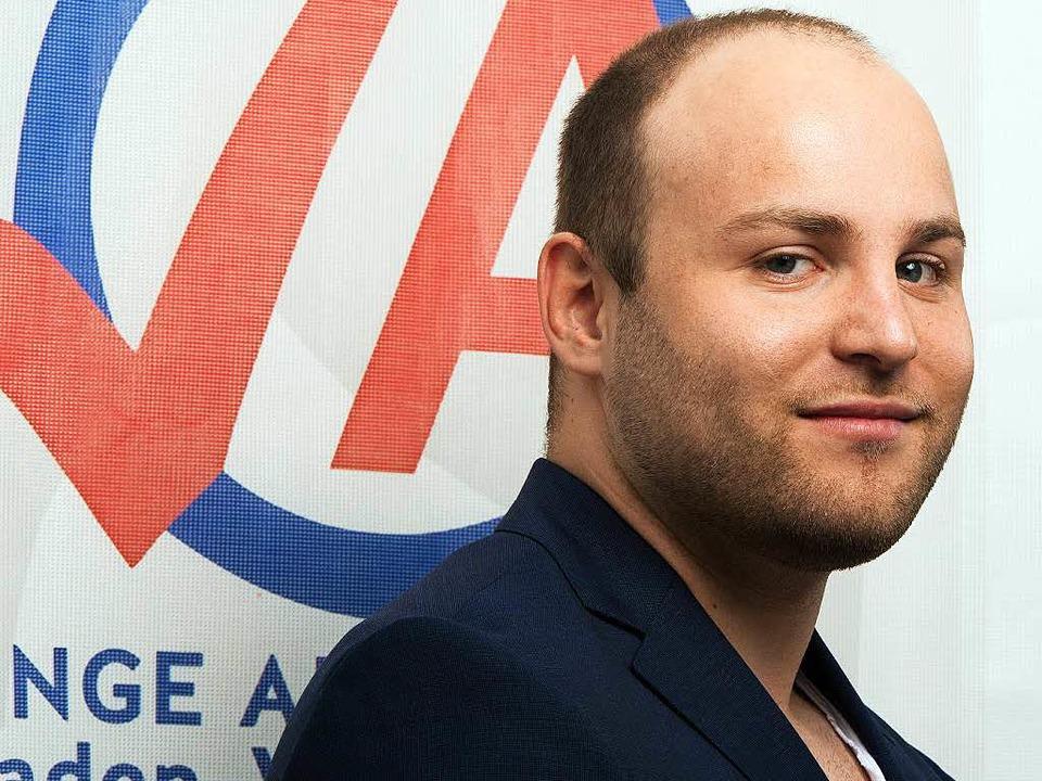 Markus Frohnmaier, Vorsitzender  der Jungen Alternative   | Foto: dpa
