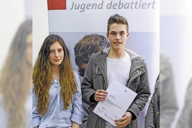 Zwei Schüler im Landesfinale