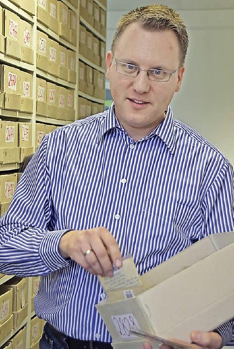 Jochen Schwenk ist  stellvertretender Geschäftsführer des Auktionshauses Stade.  | Foto: Sarah Nöltner