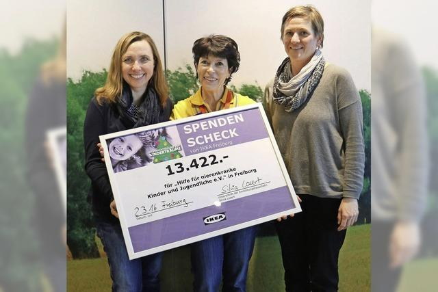 Spende für nierenkranke Kinder