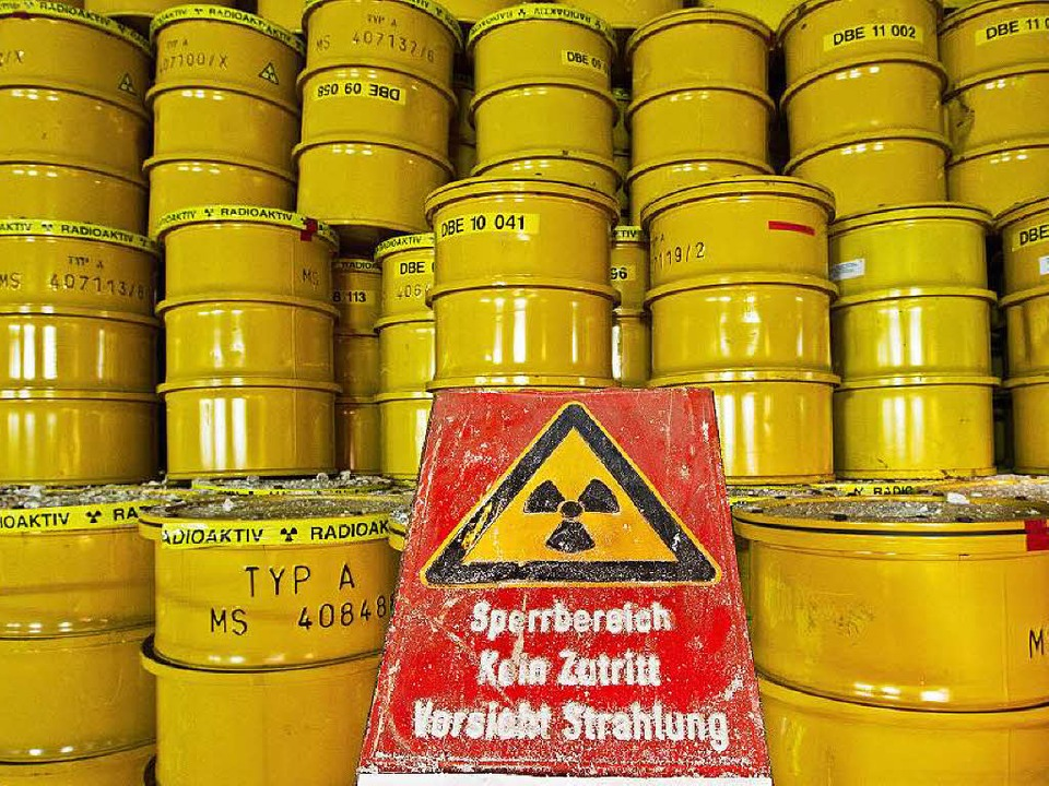 Strahlender Abfall: Fässer mit Atommüll   | Foto: dpa