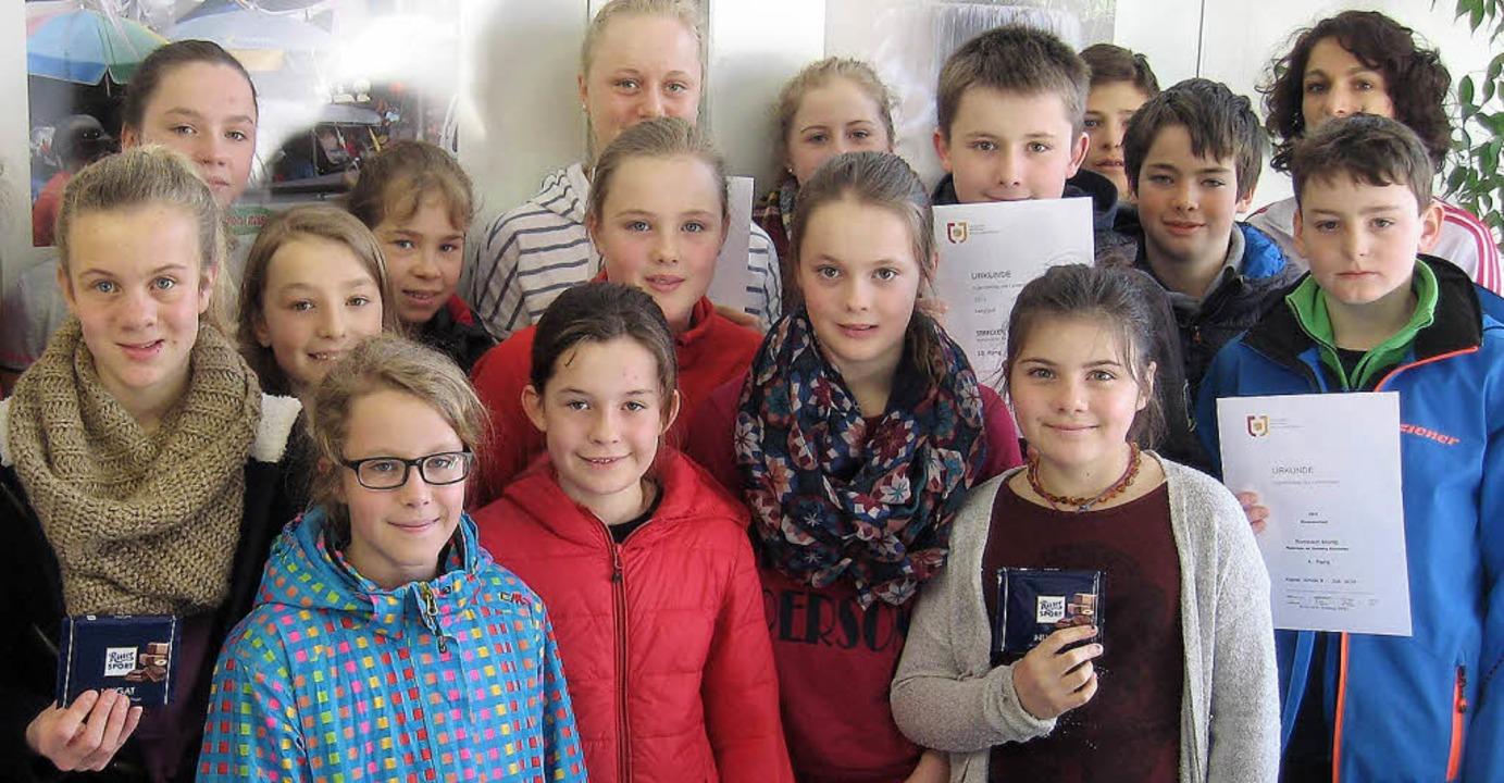 Beim Kreisjugendskitag erfolgreich: Sc... Realschule am Giersberg Kirchzarten.     Foto: Privat