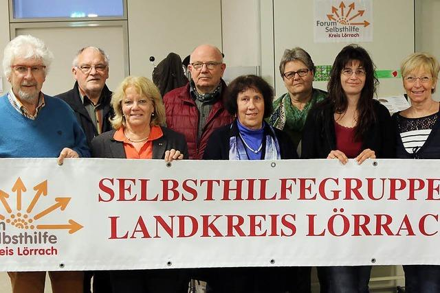 Regionale Selbsthilfe am Messestand