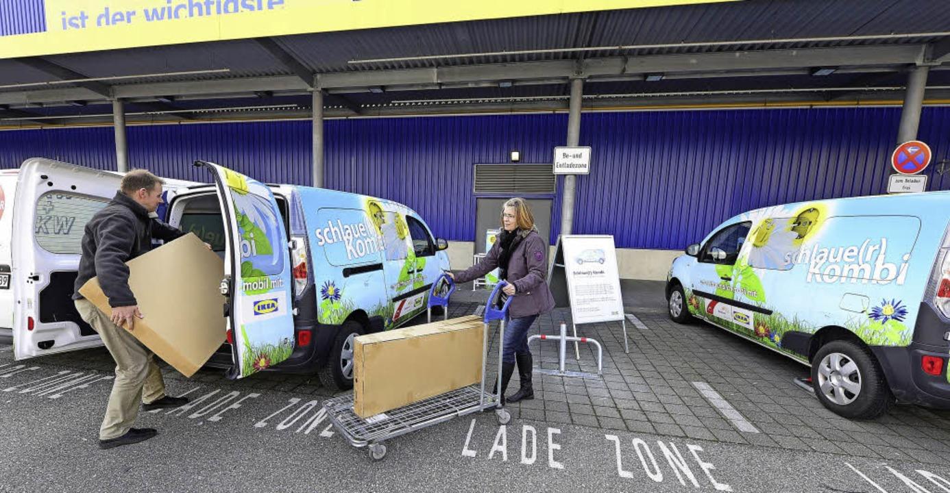 Das Modell dürfte Schule machen: Schla...aue Kombis für umweltbewusste Kunden.   | Foto: Schneider