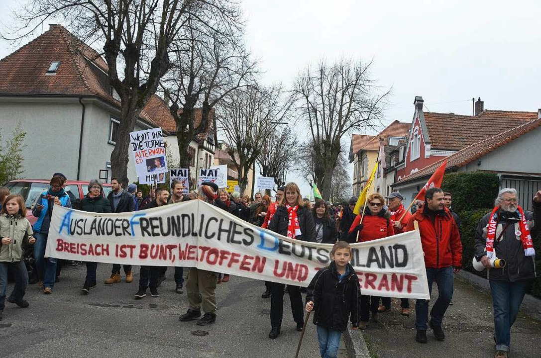 Demonstration gegen Frauke Petry und die AfD in Breisach  | Foto: Gerold Zink