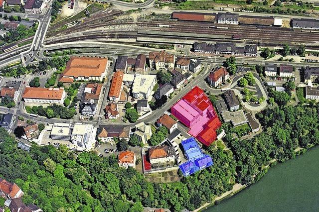 Rheinblick neben der Gefängnismauer