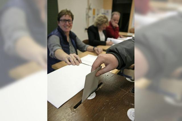 Urnengang im Wahlkreis Lahr