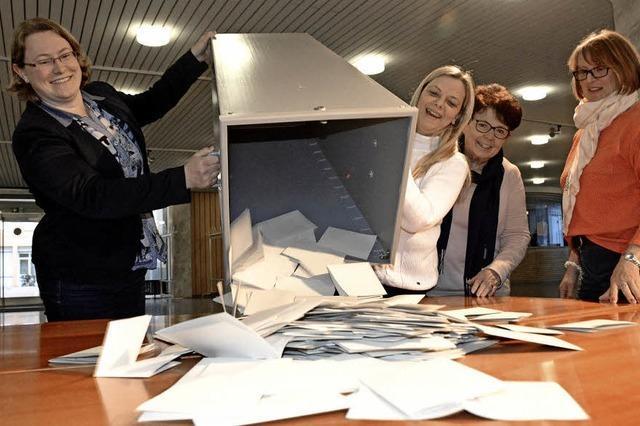 Grün vorn, SPD stürzt ab