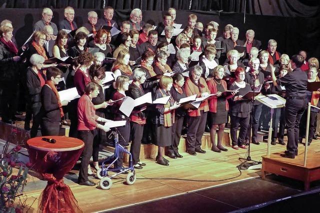 Die Besucher singen begeistert mit
