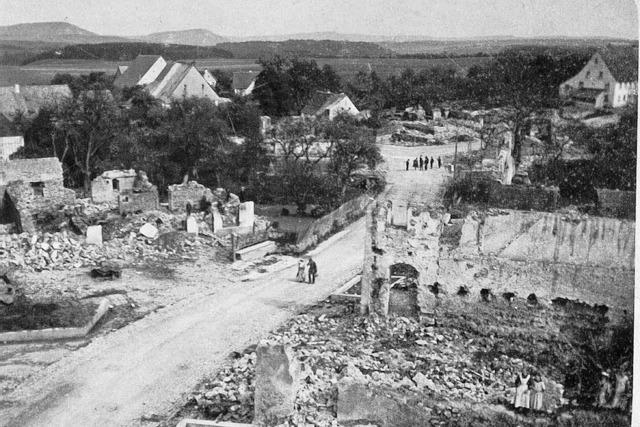 Vor 100 Jahren: Feuer zerstört Straßenzug in Unadingen