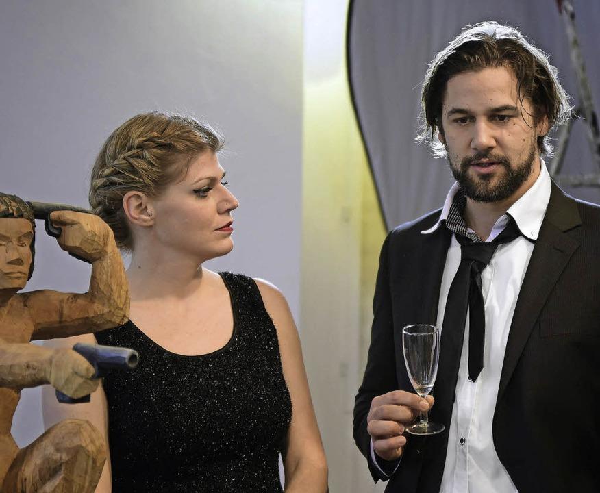 Die Hauptdarsteller  Juliane Flurer und Bastian Wienands  | Foto: Thomas Kunz