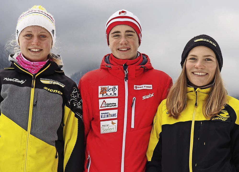 Talentiertes Trio: Karen Weiss (v.l.), Nils Kolb und Nicola Lange   | Foto: privat