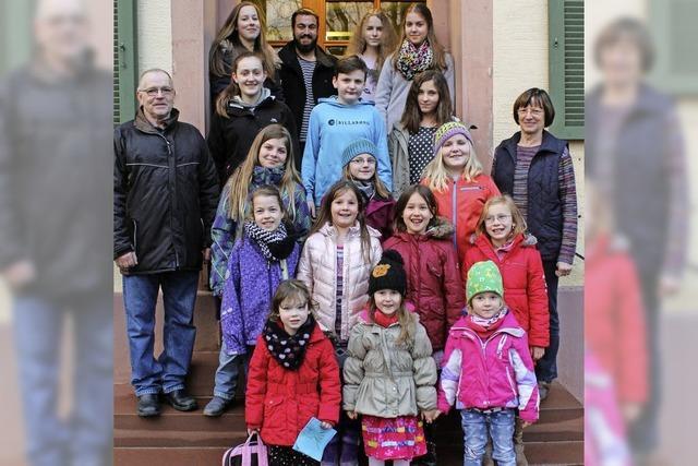 22 Kinder suchen Dirigenten