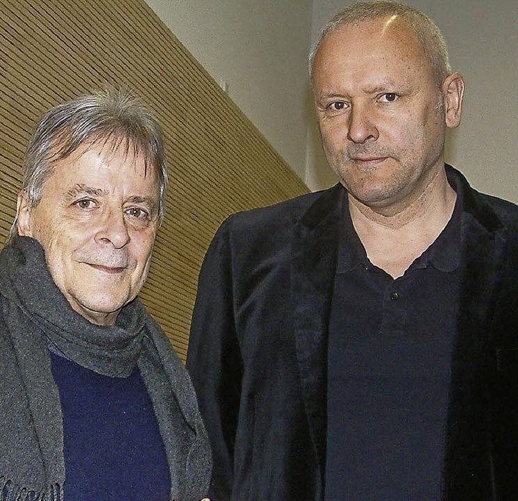 Regisseur Jürgen Schwalbe (links) und Komponist Richard Geppert   | Foto: R. Frey