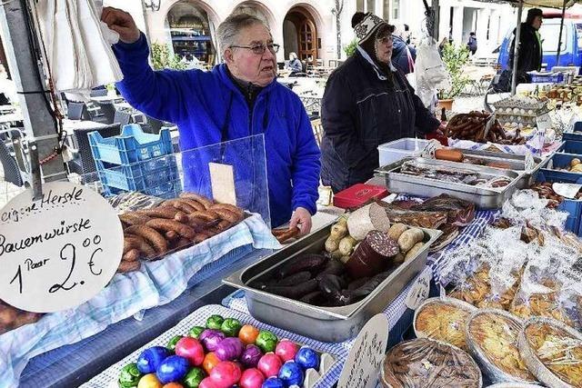 Im März gibt's schon Frisches auf dem Münstermarkt