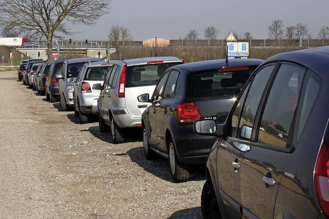 Leichter Parken an der Autobahn