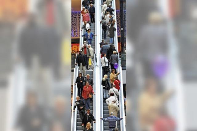 Laufverbot auf einer U-Bahn-Rolltreppe in London