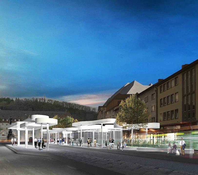 Visualisierung des künftigen Pavillons beim Siegesdenkmal.  | Foto: J. Mayer H. Architekten und Partner