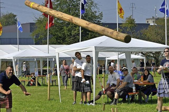 Sportliche Wettkämpfe im keltischen Stil in Wallbach/CH