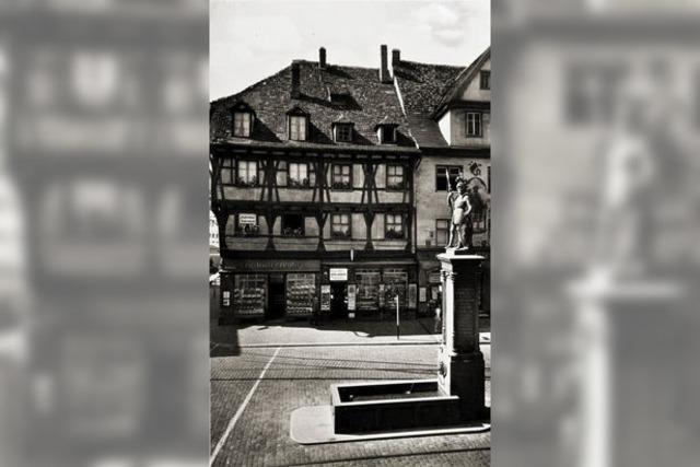 Als am Bertoldsbrunnen Fachwerkhäuser standen