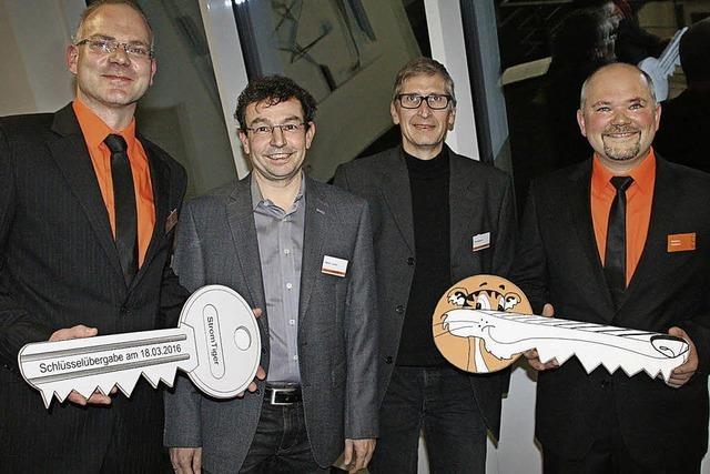 Firma StromTiger hat am Wochenende ihr neues Gebäude in Oberwihl eingeweiht