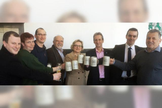 Maische ist angesetzt für 8000 Liter Jubiläumsbier