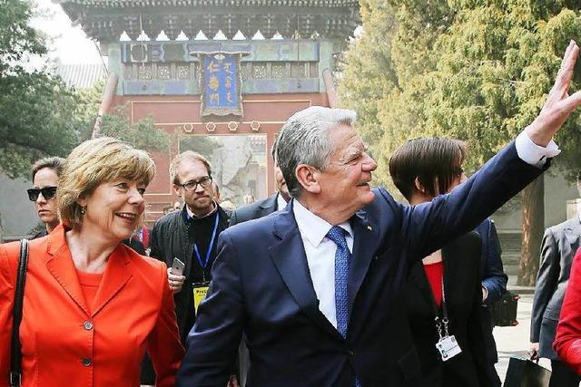 Chinas sperriger Gast: Gauck in Peking