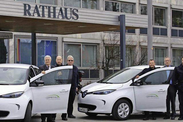E-Autos ergänzen Fuhrpark