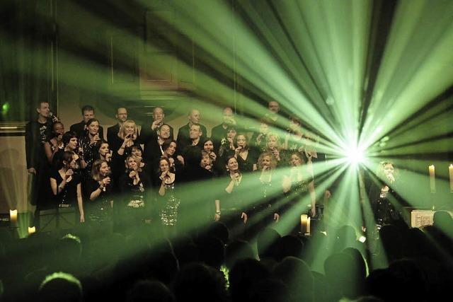 Der Gospel-Chor Golden Harps tritt in der Pauluskirche in Freiburg auf