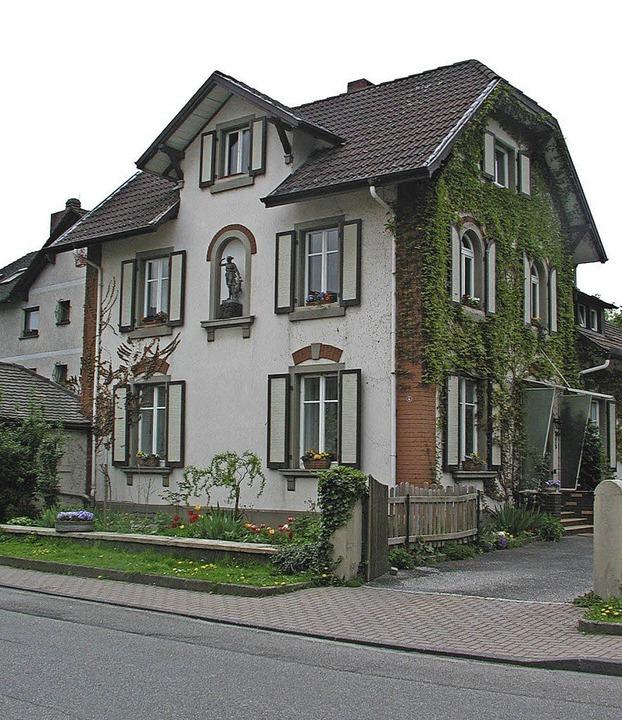 In diesem Haus in der Auggener Hauptst... Wernicke heute vor 70 Jahren geboren.  | Foto: Dorothee Philipp