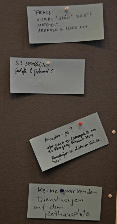 Die Wünsche der Bürger    Foto: Nikola Vogt
