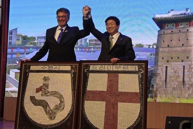 Freiburg besiegelt seine Partnerschaft mit Suwon