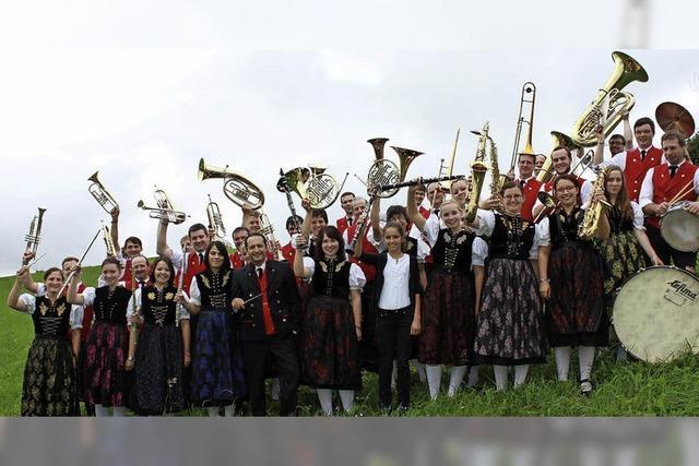 Mit dem Musikverein Titisee-Jostal in Titisee-Neustadt
