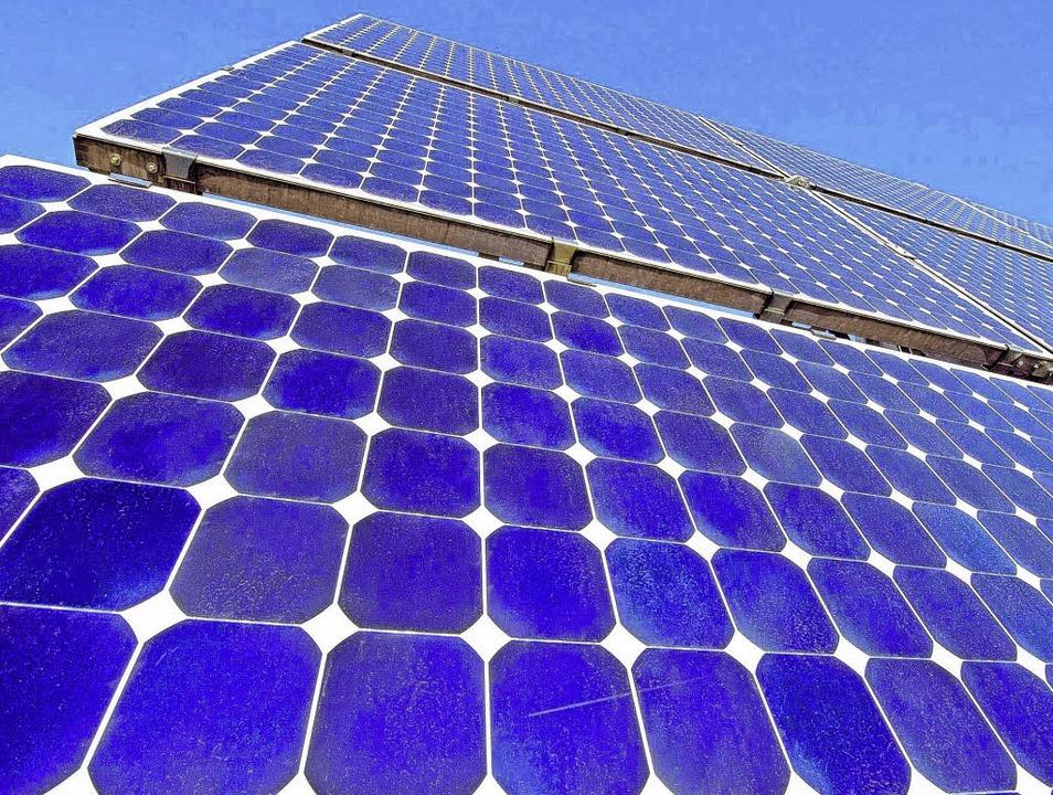 Photovoltaik – diesem Thema will...enschaft in Zukunft verstärkt widmen.   | Foto: dpa