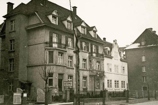 Eine Häuserzeile an der Tennenbacher Straße fiel dem Angriff am 27. November 1944 zum Opfer
