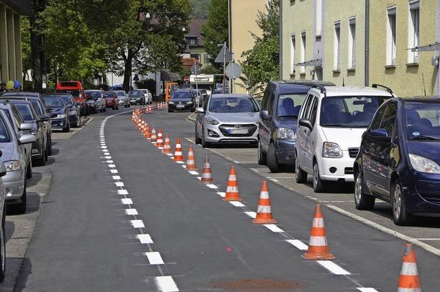 Signale auf Rot für den Radstreifen