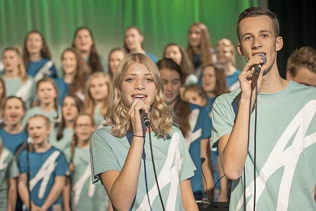 Jugendliche bringen ein christliches Musical nach Vörstetten