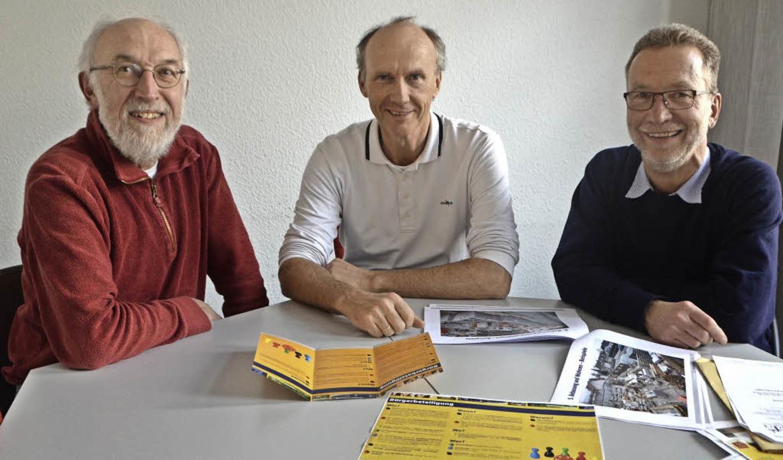 Mitglieder des neuen Bürgerforums Orts... Höhne und Walter Flöther (von links).  | Foto: Gerhard Walser