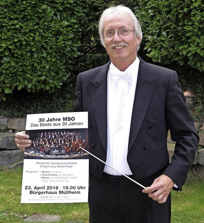Seit 30 Jahren dirigiert Uwe Müller-Feser das Markgräfler Symphonieorchester.    Foto: Dorothee Philipp