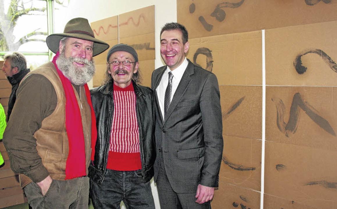Jörg Seidel, Dschiggetai und Erik Paul...rk der Gleferi in der Galerie im Turm     Foto: Horst Fischer