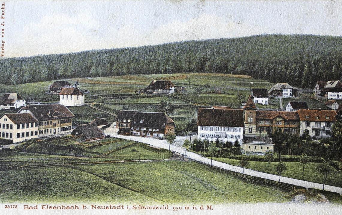 Sehr dünn besiedelt war das Eisenbache...110 Jahren, wie die  Postkarte zeigt.   | Foto: REPRO: GERT BRICHTA