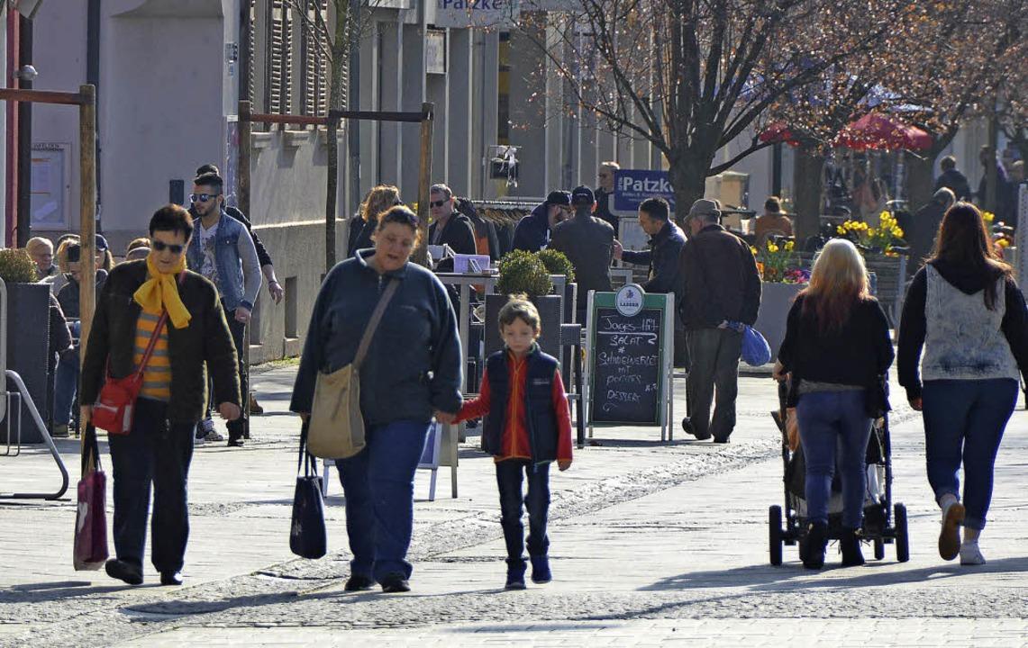 Die Aufenthaltsqualität im Stadtzentrum soll sich verbessern.   | Foto: Ingrid Böhm-Jacob