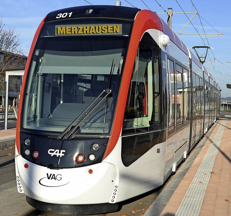 Auf die Stadtbahn muss  Merzhausen noch warten.     Foto: Montage:BZ